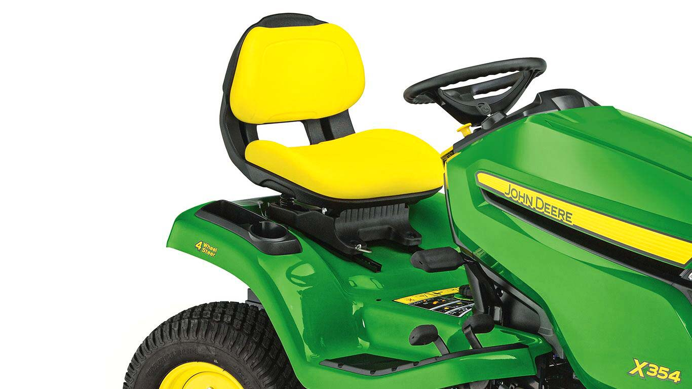 Lawn Tractors X354 ultra comfortable Seat