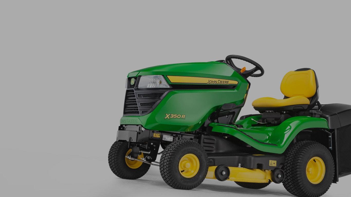 X350R, gazontractoren, zituitrusting voor gazons, serie X300, productselector
